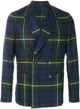 Paul Smith tartan fitted suit jacket