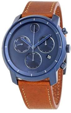 Movado Bold Ink Blue Sunray Dial Men's Chronograph Watch 3600476