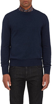 Isaia Men's Suede-Elbow-Patch Cashmere Sweater
