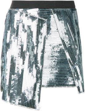 Aviu sequinned asymmetric mini skirt