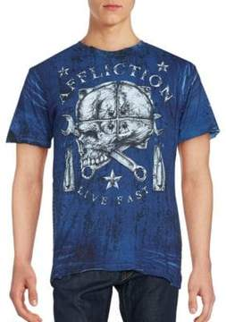 Affliction Cotton Printed Tee