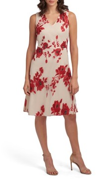 ECI Women's Embroidered Fit & Flare Dress
