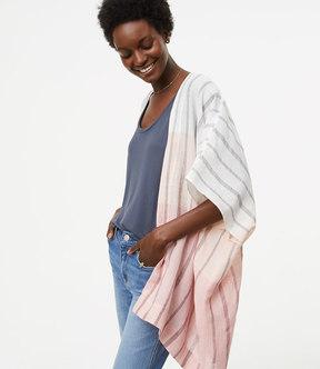 LOFT Ombre Striped Kimono