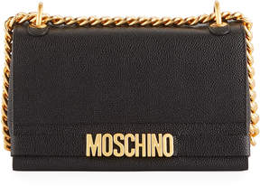 Moschino Textured Leather Shoulder Bag