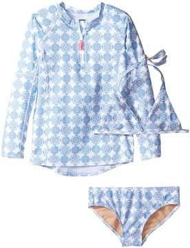 Toobydoo Delft Blue Rashguard Set (Infant/Toddler/Little Kids/Big Kids)