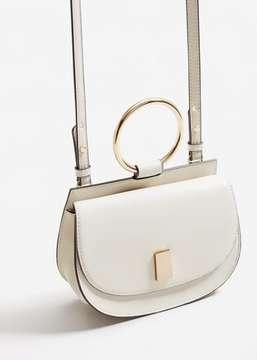 MANGO Metallic handle shoulder bag