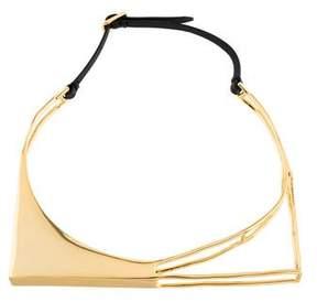 Alexis Bittar Liquid Gold Architectural Choker Necklace