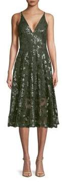 Dress the Population Fit-&-Flare Sequined Lace Dress