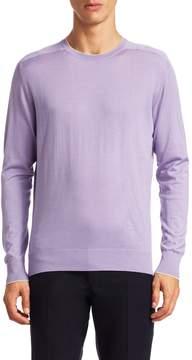 Luciano Barbera Men's Wool Crew Sweater