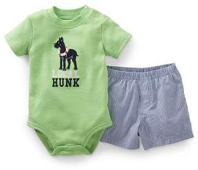 Carter's Baby Clothing Outfit Boys' 2 Piece Bodysuit and Shorts Set- Green - Newborn