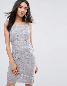 AX Paris Gray Sleeveless Crochet Dress