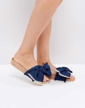 Miss KG Denim Blue Flat Sandals