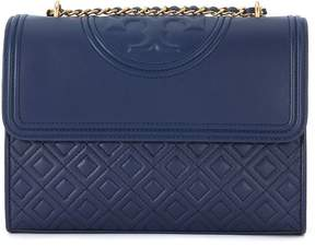 Tory Burch Fleming Blue Leather Shoulder Bag - BLU - STYLE