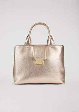 Emporio Armani Handbag In Laminated Leather