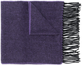 Paul Smith contrast fringe scarf