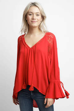 Band of Gypsies Crochet Inset Blouse