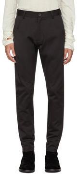 Isabel Benenato Black Five-Pocket Trousers