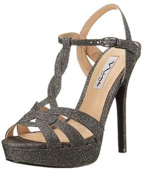 Nina Womens Marzia-yf Open Toe Ankle Strap Platform Pumps.