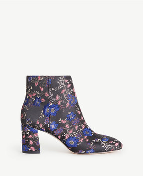 Ann Taylor Eden Floral Jacquard Heeled Booties
