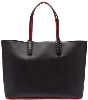 Christian Louboutin Cabata Spike Embellished Leather Tote - Womens - Black