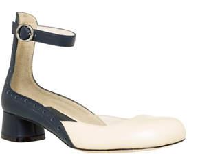 Max Studio acacia 2 : polished leather block heel mary janes