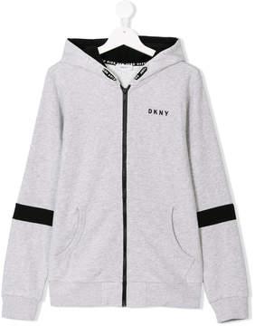 DKNY Teen logo print hoodie