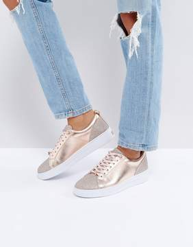 Ted Baker Kulei Rose Gold Sparkling Sneakers
