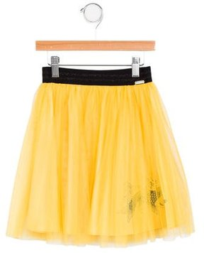 Junior Gaultier Girls' Embroidered Mesh Skirt w/ Tags