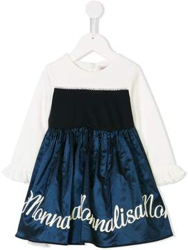 MonnaLisa logo embroidered dress