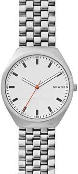 Skagen Men's Grenen Stainless Steel Mesh Strap Watch, 40mm