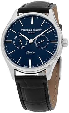 Frederique Constant Classics FC259BNT5B6 Silver Tone Stainless Steel & Blue Dial 39mm Mens Watch