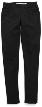 Tractr Girl's Ponte Knit Skinny Pants