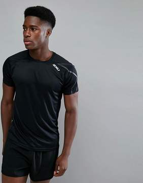 2XU Running Active T-Shirt In Black MR4818A-BLK