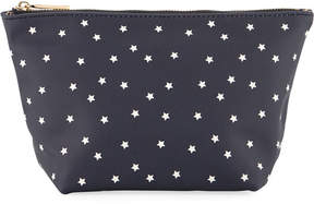 Neiman Marcus Printed Cosmetics Pouch Bag - Stars