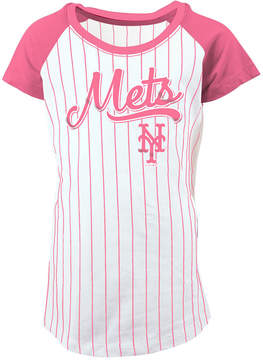 5th & Ocean New York Mets Pinstripe T-Shirt, Girls (4-16)