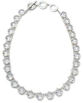 Carolee Crystal Abbey Crystal Hex Collar Necklace