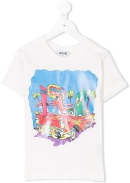 Moschino Kids logo diner print T-shirt