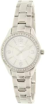 Timex Women's TW2P79800 Silver Stainless-Steel Plated Japanese Quartz Fashion Watch