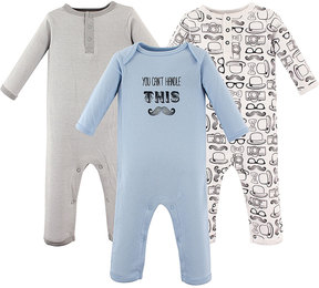Hudson Baby Light Blue & Gray 'You Can't Handle This' Playsuit Set - Infant