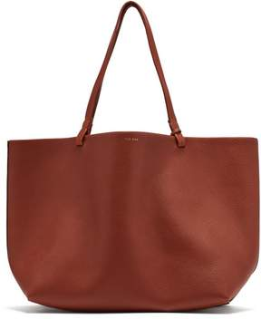 The Row Park Grained Leather Tote - Womens - Tan