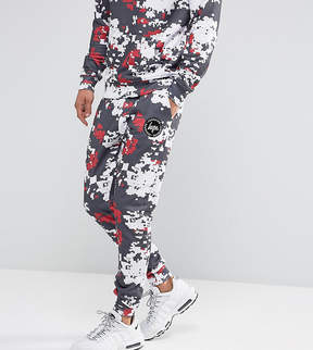 Hype Skinny Joggers In White With Digi Camo Print