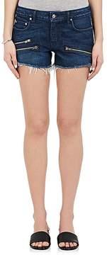 Derek Lam 10 Crosby Women's Quinn Denim Cutoff Moto Shorts