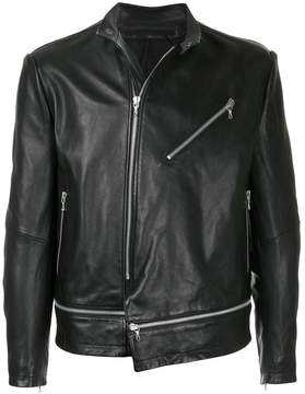 Julius leather zip jacket