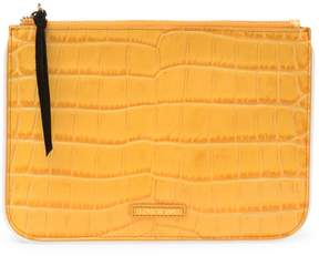 Elizabeth and James Croc Embossed Leather Zip Pouch