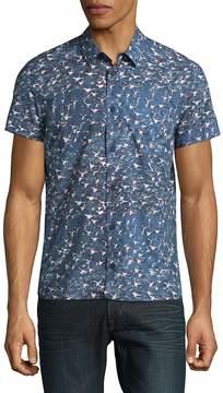 Orlebar Brown Men's Printed Cotton Casual Button-Down Shirt