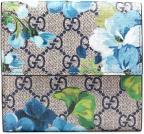 Gucci GG Blooms french flap wallet - BLUE BLOOMS - STYLE
