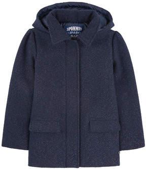 3 Pommes Tweed and lurex coat