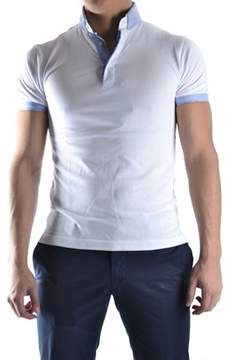 Massimo Rebecchi Men's White Cotton Polo Shirt.