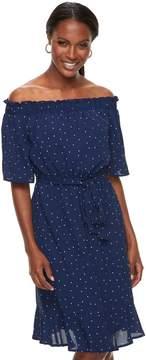 Elle Women's Dot Off-the-Shoulder Dress
