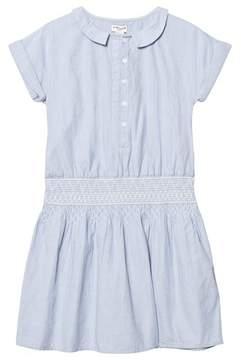 Cyrillus Light Blue Smock Waist Shirt Dress